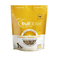 Fruitables Pumpkin & Banana Flavor Crunchy Dog Treats at RM35.90