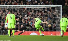 Milner struck the penalty to David de Gea's side but the Spanish goalkeeper failed to reach the powerful spot kick