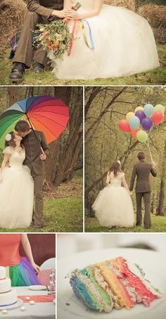 A Rainbow Wedding Palette Cleanser « Manolo for the Brides Rainbow Theme, Rainbow Wedding, Rainbow Balloons, Colourful Balloons, Rainbow Colors, Colorful, Wedding Themes, Wedding Colors, Wedding Photos