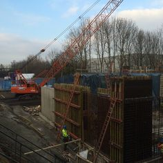 On site at Milton Keynes, SDC and Whelan & Grant doing a great job, after less than a month on site