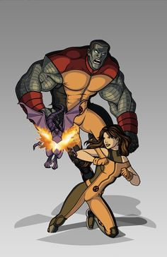 X-men Costume Redesign: Colossus and Shadowcat by Hiroki8 on DeviantArt