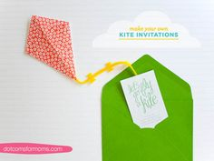 DIY Kite Invitations