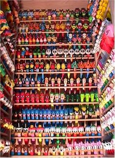 I collect Pez dispensers. I have no where near this many... but I so want!