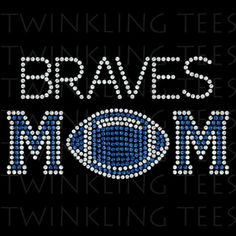Football Mom Customized Ladies Rhinestone Bling Tee Shirt