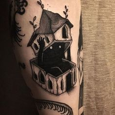 Come into my dark house/mind Tattoo Drawings, Body Art Tattoos, Small Tattoos, Sleeve Tattoos, Creepy Tattoos, Cool Tattoos, Tatoos, Tattoos Lindas, Tattoo Und Piercing