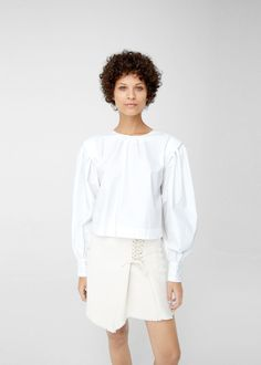 de8c6db29e Puffed sleeves blouse - Woman
