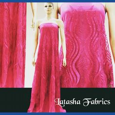 Fuschia Pink Embroidery Fabric