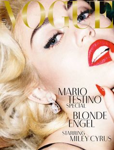 See Miley Cyrus by Mario Testino for VOGUE