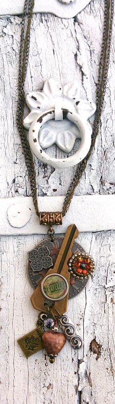 Steampunk Key Assemblage Travel Necklace by Secret Stash Boutique www.etsy.com/shop/secretstashboutique