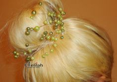 Green Wedding Hair Accessories Bridal Hair by BridalShopDelilah Green Hair, Wedding Hair Accessories, Green Wedding, Hair Comb, Hair Jewelry, Karma, Wedding Hairstyles, Fans, Relax
