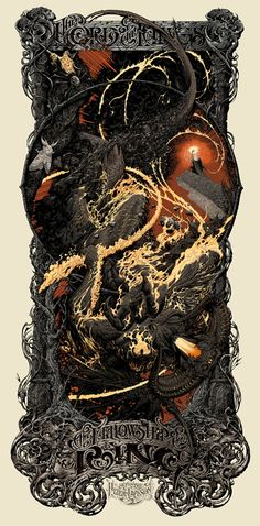 New Posters for The Lord of the Rings and The Hobbit by Aaron Horkey, Ken Taylor, and Nicoloas Delort from Mondo (Onsale Info)