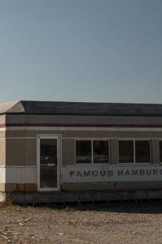 Used in the movie Looper- Abandoned Diner Movie Set