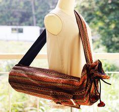 Yoga Mat Bag.Yoga Bag. Yoga Tote. Yoga Sling bag. by ztomhomeshop