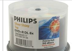 Philips Duplication Grade Shiny Silver 8X 8.5GB DVD+R Double Layer DL Media 50 Pack in Cake Box by Philips. $31.52. The double-layer DVD+R DL medium is the newest technology breakthrough in optical discs. The advanced Philips single-sided, double-layer disc has an amazing 8.5GB of storage capacity, enough for up to four hours of DVD-quality video, 16 hours of VHS-quality video, or over 120 hours of MP3 audio. It is compatible with all current DVD video players...