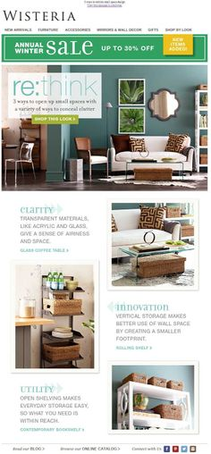 Wisteria re:think email 2014  email design email designs email marketing