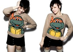 Ninja Turtles - I want Michelangelo on a sweater now! :P