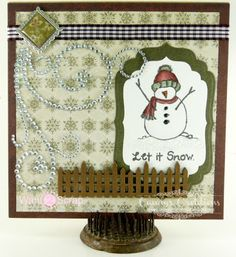 COOL SNOWMAN CARD