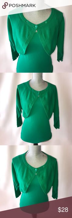 Green Cabi Tank and Cardigan Green tank & a green cardigan with two buttons CAbi Sweaters Cardigans