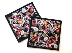 Musical Instruments Pot HoldersSet of 29 X by PizazzCreations, $10.00