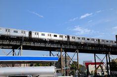 En el Bronx. El metro deja de ser subterráneo y pasa a varios metros sobre nuestras cabezas