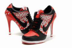 Nike Dunk SB Low Heels Women Black Red  1895  -  101.00   2012 2013 affbfa497f