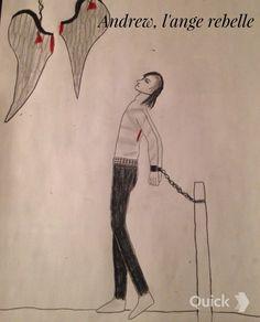 Andy Biersack fallen angel drawing, Andrew the fallen angel Andy Biersack, Vampires, Angel Drawing, Black Veil Brides, Drawings, Angels, Art, Characters, Underworld