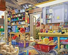 White Mountain Puzzles Grandpa's Shed - 1000 Piece Jigsaw Puzzle New in Toys & Hobbies, Puzzles, Contemporary Puzzles | eBay