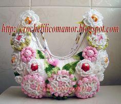 CROCHE LILI COM AMOR  handbags