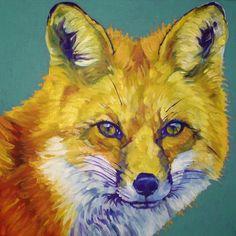 Fox by Resident Artist Nancy Stark