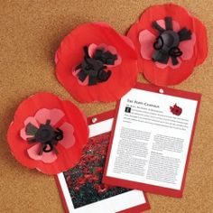 Display real size picture of How to make a red poppy for Remembrance Day ~ This would be fun to do with the class to wear throughout the day Crafts To Make, Arts And Crafts, Paper Crafts, Crepe Paper, Remembrance Day Poppy, Poppy Craft, Black Construction Paper, Theme Pictures, Remembrance Day