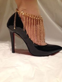 Falling Chains Anklet Gold