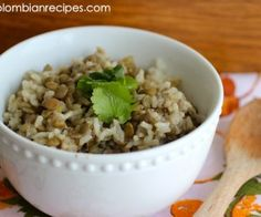 Rice with Coconut and Lentils (Arroz con Coco y Lentejas) Colombian Dishes, My Colombian Recipes, Colombian Food, Lentil Recipes, Rice Recipes, Healthy Recipes, Healthy Food, Recipes Dinner, Lentil Dishes
