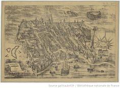 Plan de la ville de Bordeaux en 1550 / Adolphe Hequet, del   Gallica Aquitaine, Plan France, Vintage World Maps, Photos, History, Adolphe, Plans, Cards, Painted Canvas