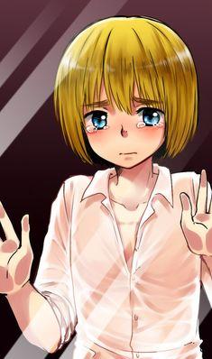 Crunchyroll - Fanart Meme Traps Anime Characters Behind Smartphone Glass attack on Titan Armin Aot Armin, Eren X Mikasa, Manga Art, Manga Anime, Anime Art, Got Anime, Anime Guys, Kuroko, Death Note