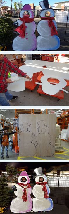 DIY Snowman Outdoor Holiday Yard Decor | The Home Depot Community