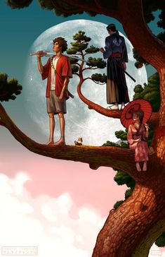 Samurai Champloo - Mugen & Jin et& Fuu Manga Anime, Anime Art, Rick And Morty Poster, Ghost Of Tsushima, Japanese Warrior, Japan Art, Japan Japan, Samurai Art, Fantasy Warrior