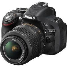 Nikon D5200 24.1 MP Digital SLR Camera - Black (Kit w/ 18-55 VR Lens) - EXCLUSIVE DEAL! BUY NOW ONLY $438.32