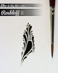 roub2 One Stroke Nails, Art Tips, Nail Art Designs, Blog, Tribal Designs, Small Moments, Manicure, Paint Brushes, Bonjour