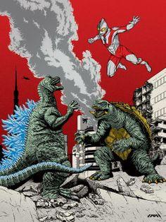 Godzilla, Gamera, & Ultraman…Godzilla will never die!!! New movie coming out too!!