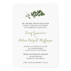 Watercolor Wedding Invitation Watercolor Olive Orchard | Wedding Card
