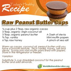 Raw Peanut Butter Cups