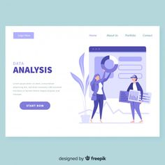 Business landing page template Free Vector Landing Page Inspiration, Website Design Inspiration, Pag Web, Web Design Tutorials, Web Layout, Page Template, Interface Design, Design Reference, Page Design