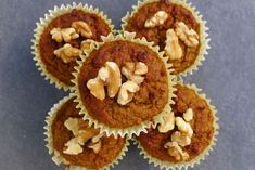 Super Healthy Carrot Cake Muffins - The Free From Fairy