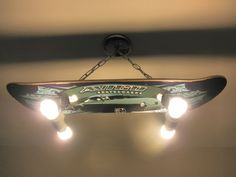 Custom Hanging Skateboard Light Fixture by LightingCrafters, $199.99