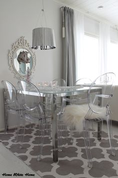 Home White Home: The Perfect Home purchase is: Silver and glass