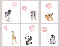 Tierbabys drucken Set für Kindergarten-Pastell-rosa 6er Set vertikal Drucke aus meinem original Aquarelle Verwenden Sie das Drop down-Box, um Ihre Größe zu wählen 3 Größen erhältlich... 5 x 7, 8 X 10 und 11 X 14 gedruckt auf 100 % Archivierung Baumwolle Rag Fine Art Papier - 2 Farben erhältlich... weiß/Creme weiß oder Natur Epson Ultra-Chrome archival Pigmenttinten verwendet Drucke werden in einer Schutzhülle im Inneren eine steife Foto-Mailer versendet Copyright-Vermerke werden n...