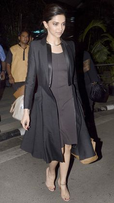 Deepika Padukone seen at the Mumbai airport. #Bollywood #Fashion #Style #Beauty