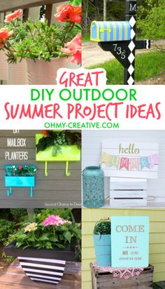 Great DIY Outdoor Summer Project Ideas - Oh My Creative