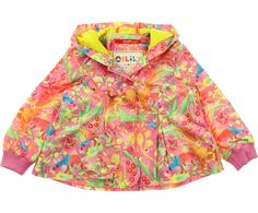 Oilily Baby Girls Pink Jungle Print 'Chiraffe' Hooded Jacket