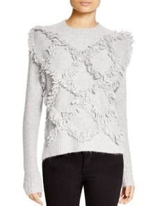 Rebecca Taylor Fringed Sweater | Bloomingdale's